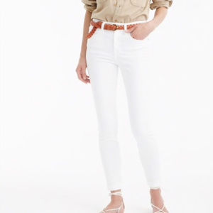 J Crew White Lookout High Rise Skinny Jeans Size29